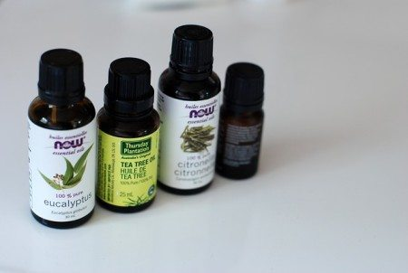 tea tree oil and eucalyptus oil