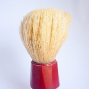 shaving brush made of boar hair