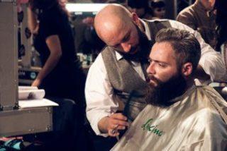 barber grooming a beard