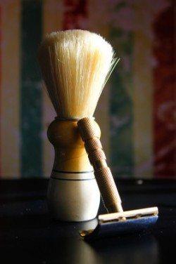 shaving brush and safety razor