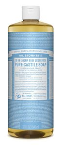 Unscented pure castille soap by Dr. Bronner